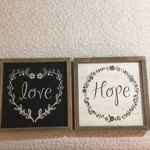 Two Wood Light Weight Love & Hope  Frames